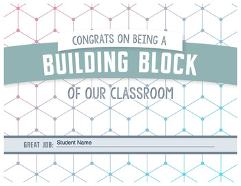 Building Blocks Certificate - Congratulations