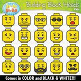 Building Blocks Character Heads Clipart {Zip-A-Dee-Doo-Dah Designs}