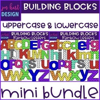 Alphabet Letters Clip Art -Building Blocks Mini Bundle {jen hart Clip Art}