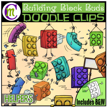 Building Blocks Clipart Buddies:  Helpers