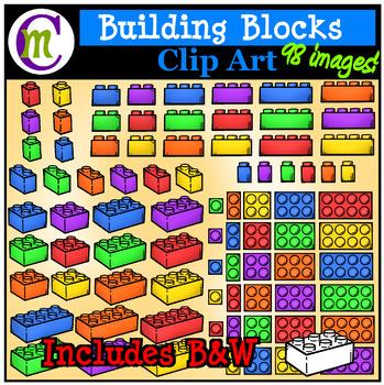 Building Blocks Clipart | Plastic Bricks Clip Art