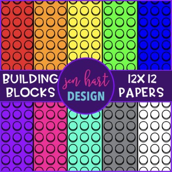 Building Blocks Digital Paper - Free Clip Art {jen hart Clip Art}