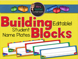 Building Blocks EDITABLE Student Name Plates