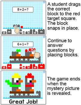 Winter Math Building Blocks Mystery Picture Game - Smartboards, Computers