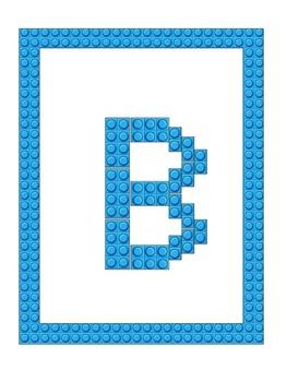 Building Blocks Letter Mats & Coloring Book (Capital Letters)
