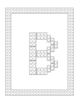 Building Blocks Letter Mats & Coloring Book (Capital Letters)
