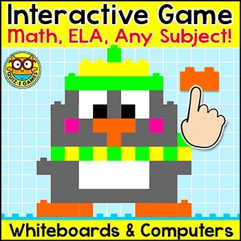 Winter Activities Building Blocks Game - Penguin, Snowman, Polar Bear, Owl, Fox