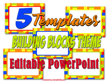 Building Blocks PowerPoint Templates for Back to School or Class Activities