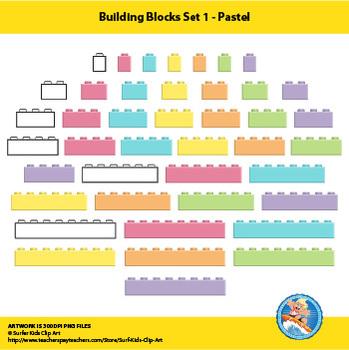 Building Blocks Set 1 - Pastel