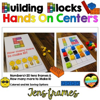 Building Blocks Tens Frames Hands on Math