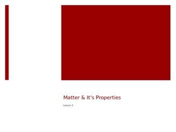 Building Blocks of Matter- Harcourt Science - Grade 5