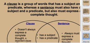 Building Blocks to Sentences: Clauses
