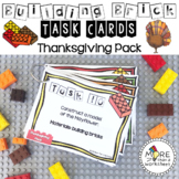 Building Brick Task Cards Thanksgiving Edition