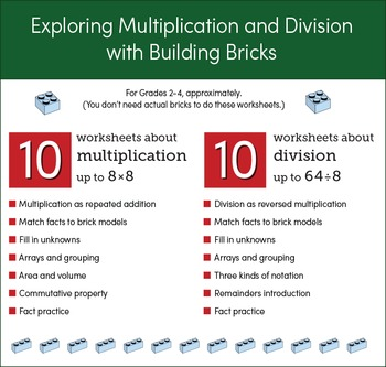Building Bricks - Multiplication and Division Worksheets