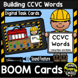Building CCVC Words with Nuts and Bolts BOOM Cards:  Construction Theme