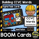 Building CCVC Words with Reading Rods BOOM Cards:  Construction Theme