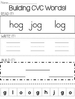 Read, Write, Build CVC Words!