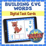 Building CVC Words - BOOM Cards - Digital Task Cards - Distance Learning