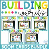 Building CVC Words BUNDLE Boom Cards! Distance Learning!