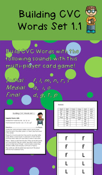 Building CVC Words Card Game 1.1