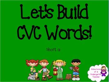 Building CVC Words Flipchart (short a) - Camping Theme