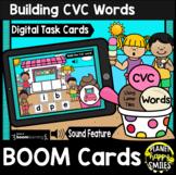 Building CVC Words Letter Tiles BOOM Cards: Summer Ice Cream at the Beach Theme