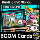 Building CVC Words Nuts & Bolts BOOM Cards: Summer Ice Cream at the Beach Theme