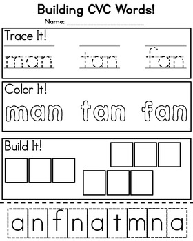 Building CVC Words Pack!