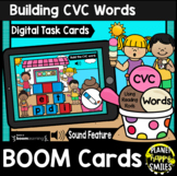 Building CVC Words Reading Rods BOOM Cards: Summer Ice Cream at the Beach Theme