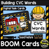 Building CVC Words with Nuts and Bolts BOOM Cards -Construction Theme