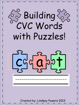 Building CVC Words with Puzzles!