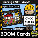 Building CVCC Words with Nuts and Bolts BOOM Cards:  Construction Theme