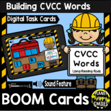 Building CVCC Words with Reading Rods BOOM Cards:  Construction Theme
