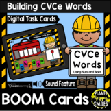 Building CVCe Words with Nuts and Bolts BOOM Cards:  Construction Theme