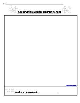 Building Center Recording Sheet
