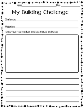 Building Challenge Printable Pack- No Prep