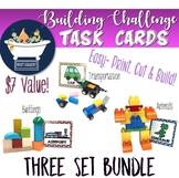 Building Challenge Task Picture Cards - 3 Set Bundle