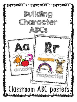 Building Character ABC in WHITE