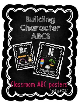 Building Character ABCs- Black Background