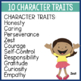 Building Character Poster and Passages BUNDLE