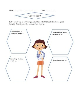 Building Character: Self-respect or Self-esteem Worksheets | TpT