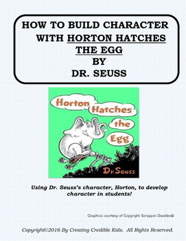 Building Character with Horton Hatches the Egg by Dr. Seuss