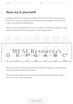 Building Chords from a Major Scale
