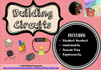 Building Circuits - Electricity - Activities, Worksheets, Handouts