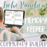 Building Classroom Community - Class Memories - Daily Chec