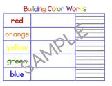 Building Color Words