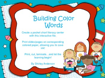 Building Color Words - Interactive Center