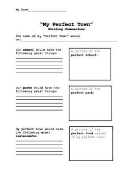 """Building Communities - """"My Perfect Town"""""""