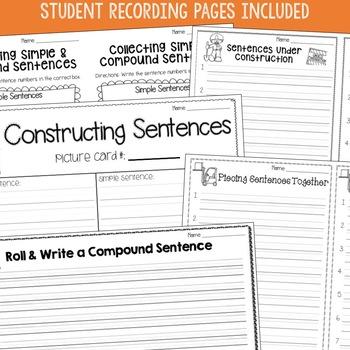 Compound Sentences: Engaging centers make practice fun!