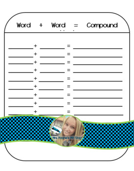 Compound Words Answer Sheet